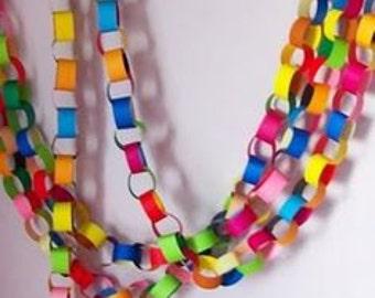 Garland Kit Banner Kit Chain Link Garland Kit Paper Chain Kit Rainbow Chain Link Garland Kit Garland DIY Kit Party Garland Party Decoration