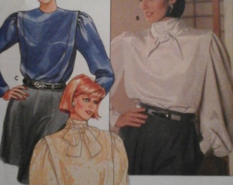 Vintage Butterick 6778 Sewing Pattern Misses' Blouse Size 8 - 10 - 12