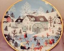 "Franklin Mint ""Moonlight Gathering"" by Wooster Scott Porcelain Plate #G62282195"