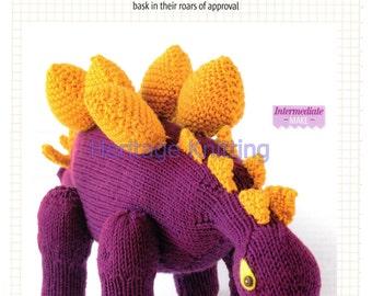 dinosaur toy dk knitting pattern 99p