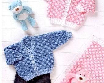 cardigan and blanket dk knitting pattern 99p pdf