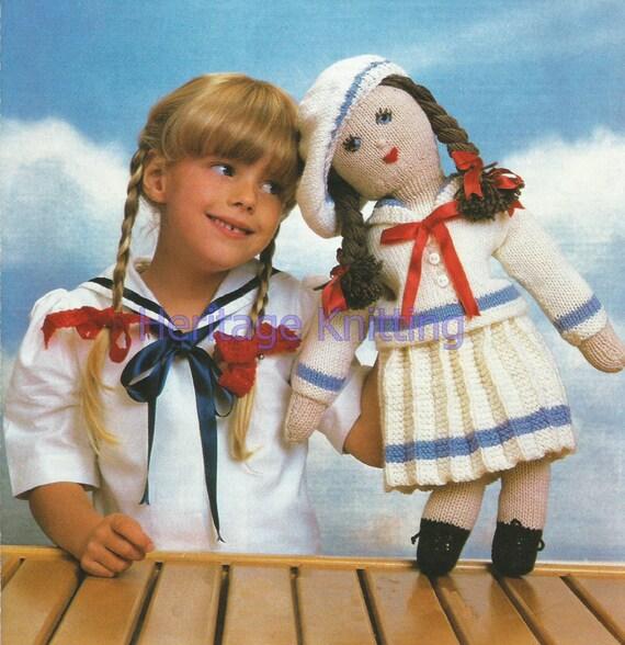 Knitting Pattern For Sailor Doll : sailor doll toy dk knitting pattern 99p
