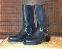 Harness motorcycle boots, women's size 8