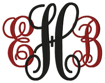 Fill Stitch Monogram Font Embroidery Font Machine Embroidery Design Fonts For Instant Download - 6 Sizes