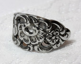 Spoon ring, stainless steel