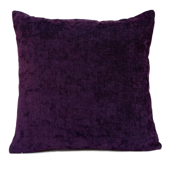 Purple Decorative Pillow Covers : Dark Purple Pillow Throw Pillow Cover Decorative Pillow