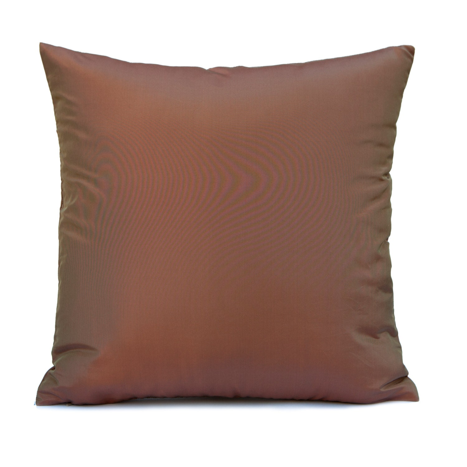Solid Decorative Throw Pillows : Solid Copper Rust Pillow Throw Pillow Cover Decorative
