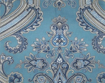 SCALAMANDRE HUDSON PAISLEY Belle Jardin Collection Fabric 10 Yards Blue(s)