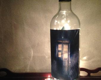 Doctor Who Tardis Wine Bottle Lamp