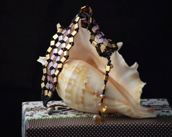 Romantic Night -handmade beaded bracelet
