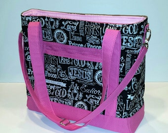 Tote Bag with Removable Adjustable Strap