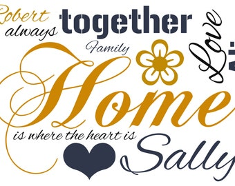 Word Art - Family Quote Print -  A4 Print or Digital File