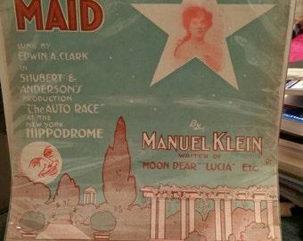 Vintage Sheet music Starlight Maid
