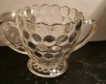 Bubble Glass Sugar Bowl