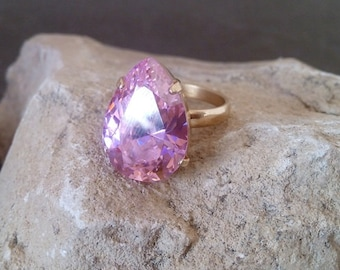 Rose quartz wedding ring Etsy
