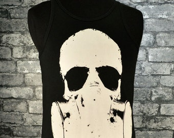 Men's skull vest