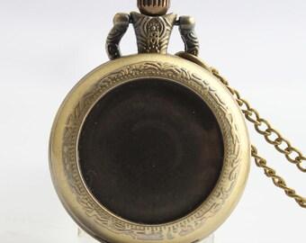 1pcs/ 35mm ,Round pocket watch Necklace,Necklace Pendant,craft supply BM-12