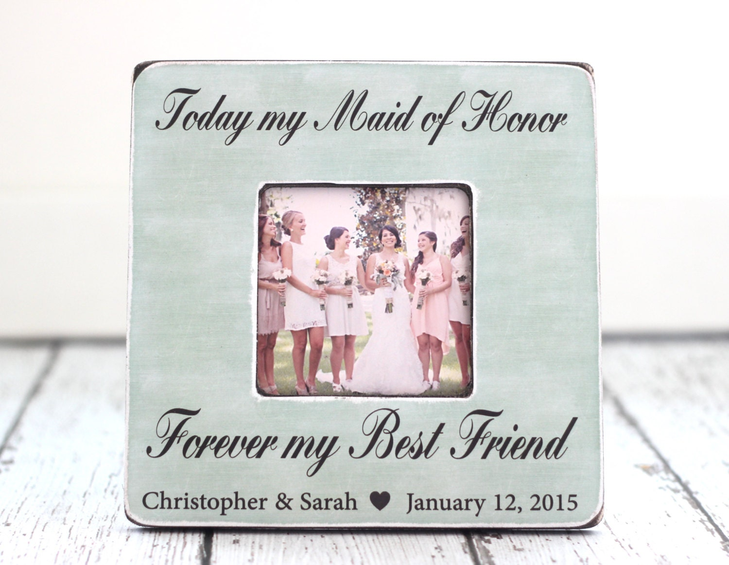 How To Be The Best Maid Of Honor: Maid Of Honor Best Friend Personalized Picture Frame Wedding