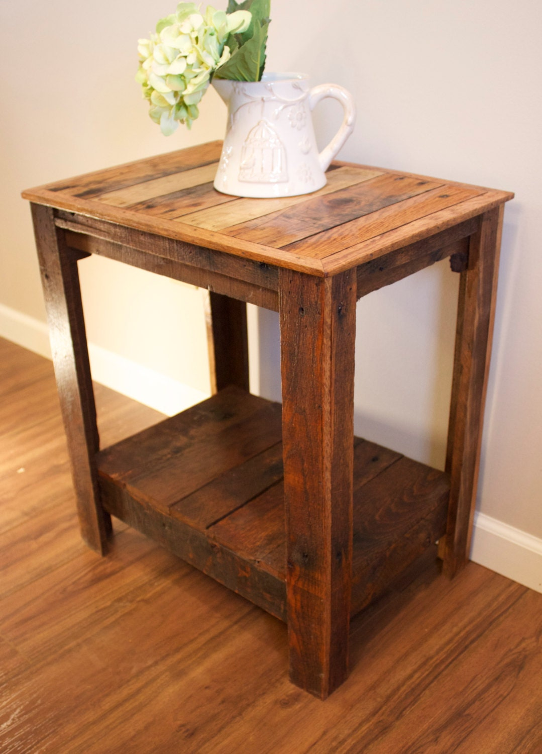 Pallet end table nightstand accent table for Pallet end table