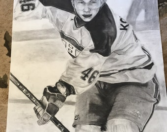 Andrei Kostitsyn charcoal drawing