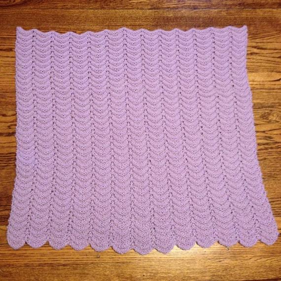 Knit Ripple Baby Blanket
