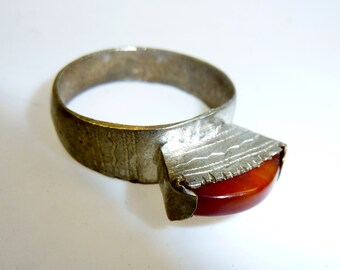 Tuareg Ring with Carnelian, vintage
