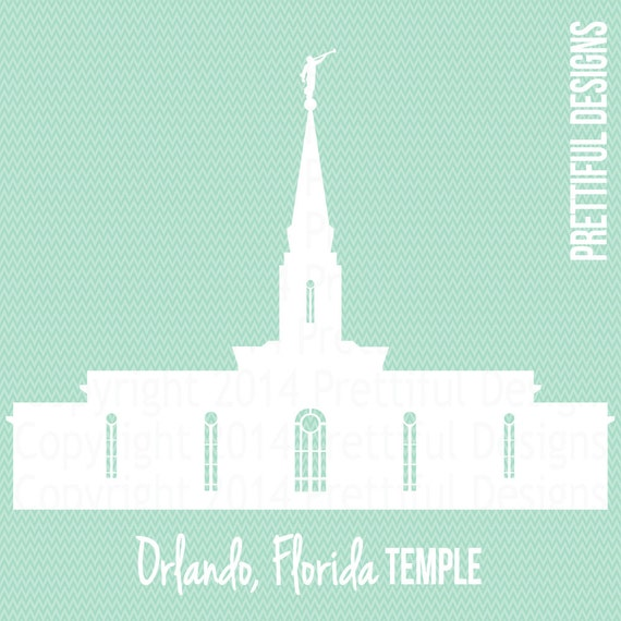 Temple Florida LDS Mormon Clip Art png eps svg Vector
