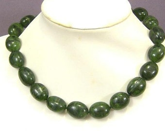 Necklace Canada Jade 20mm Nuggets 925 NSCJ5593