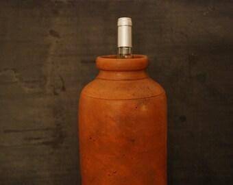 Large French earthenware preserving jar or vase