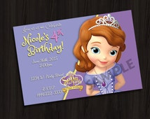 Princess Sophia The First Personalized Custom Birthday Party Invitations