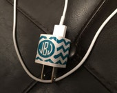Monogram wrap for apple chargers