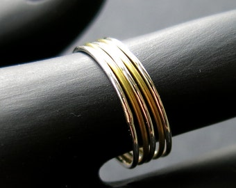 Stacking rings, silver / brass