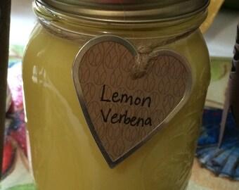 16 oz. Lemon Verbena Soy Candle in Mason Jar