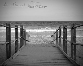 Myrtle Beach Photography, Black and White Wall Art, Beach Wall Decor, Beach Theme Decor, Nautical Decor, Office Decor, Coastal, ACEO Card