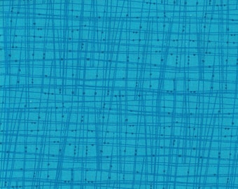 Turquoise Blue Lines- 100% Cotton- Quilting Fabric