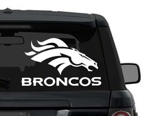 Denver Broncos Decal Sticker for Car Truck SUV Laptop ANY COLOR die cut vinyl