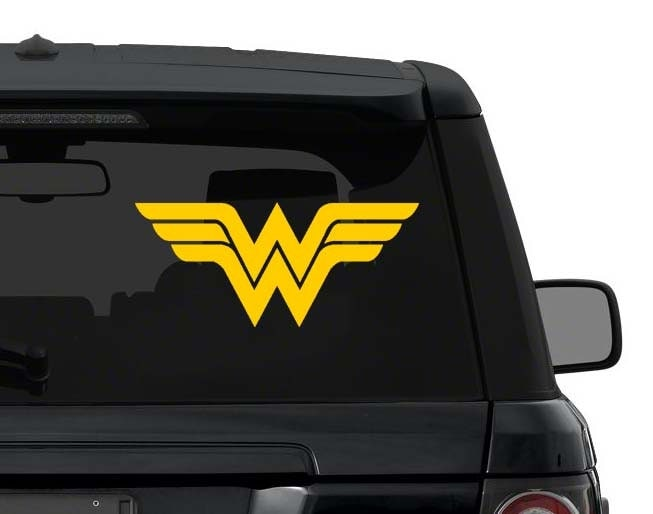Superman Car Accessories: Wonder Woman Decal Sticker For Car Truck Laptop 3-25 Inches