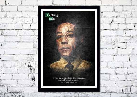 Breaking Bad // Gustavo Fring // A3 poster print //  Unique Art