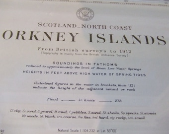 Scotland, North Coast - Orkney Islands - Nautical Chart, 4402