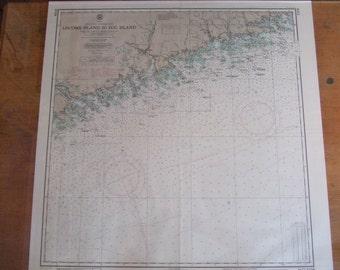 Nova Scotia, Southeast Coast ~ Liscomb Island to Egg Island - Surv. by Capt. F. Anderson, J.U. Beauchemin and assistants, year 1919 (#1209)