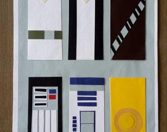 Star Wars Minimalist Papercraft Poster