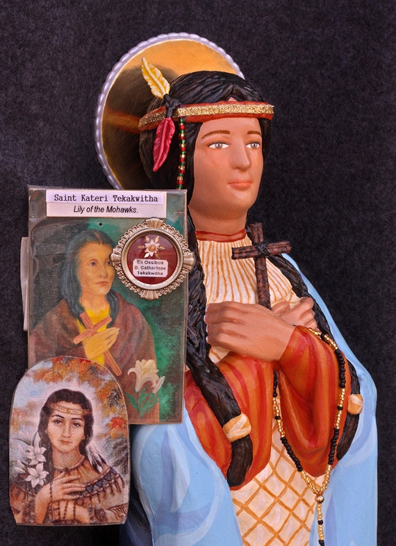 "St. Kateri Tekakwitha 19"" Patron of Pagan Conversions and Interior Silence"