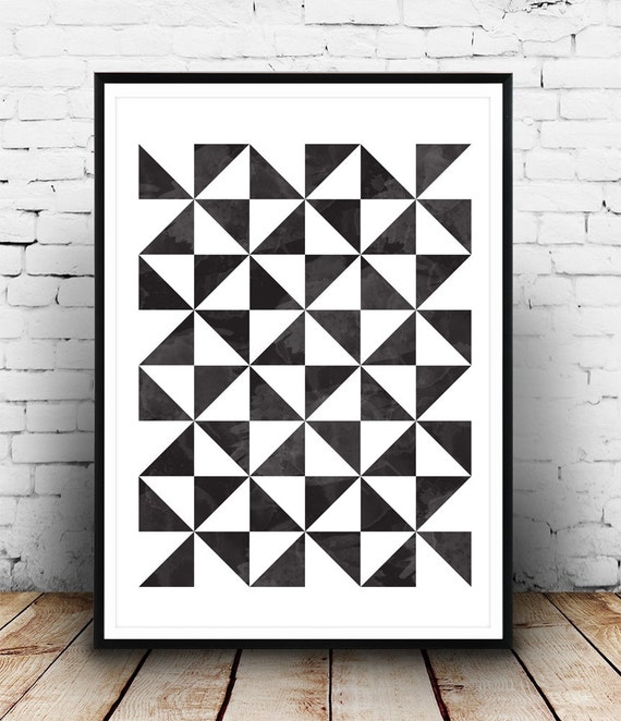geometric art print scandinavian print geometric poster. Black Bedroom Furniture Sets. Home Design Ideas