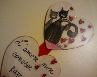 Wooden Cat Lovers plate