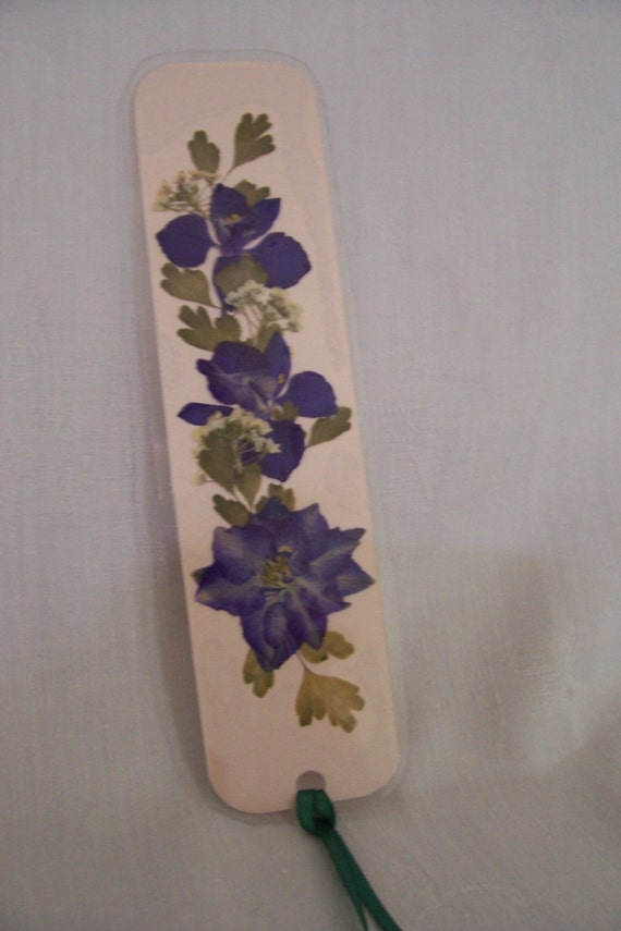 Laminated pressed flower bookmark by thistlebarbears on etsy