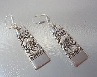 Spoon  earrings, Coronation silverware earrings, silverware earrings,  Silver earrings, Flatware earrings, , Unique earrings