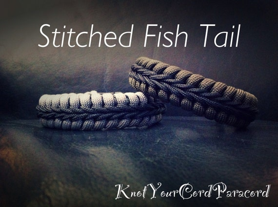 stitched fishtail paracord bracelet by knotyourcordparacord