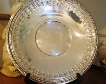 """Vintage Platter, Reed and Barton """"Riviera"""" Pattern Silver Plate, Wedding Gift"""