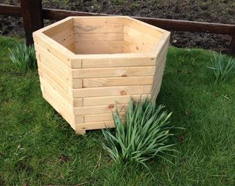 60cm Hexagon Wooden Planter