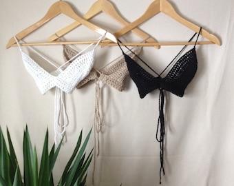 Athena Crochet Bralette Bikini Top